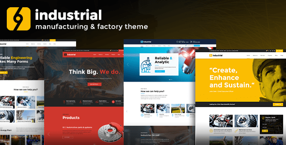 Industrial – Corporate, Industry & Factory – WP Theme Download
