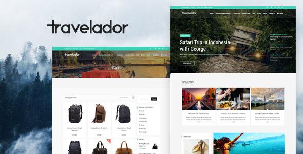 Travelador – Weblog Tourism & WooCommerce Shop Theme  – WP Theme Download