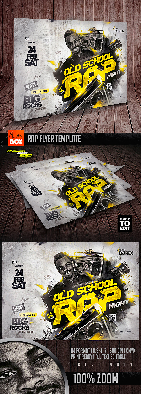Flyers PSD – Rap Flyer Template – Download