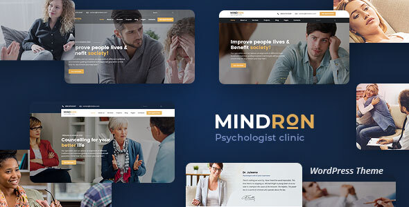 Mindron – Psychology & Counseling WordPress Theme – WP Theme Download