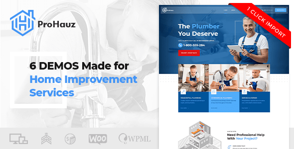 ProHauz – Handyman & Plumber – WP Theme Download