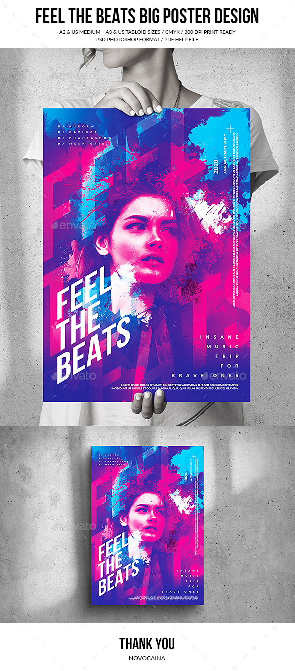 Flyers PSD – In actuality feel The Beats – Enormous Poster Procedure – Download