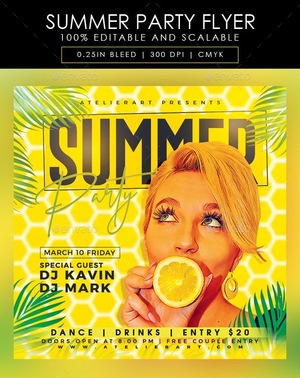 Flyers PSD – Summer season Birthday celebration Flyer – Download