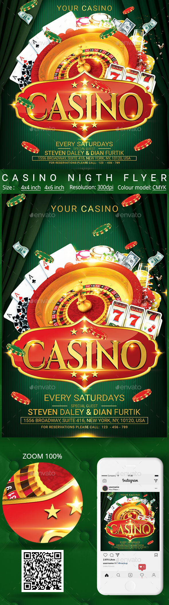 Flyers PSD – Casino – Download