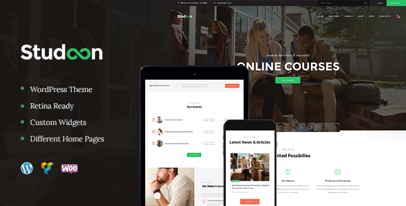 Studeon | An Training Heart & Coaching Capabilities WordPress Theme – WP Theme Download