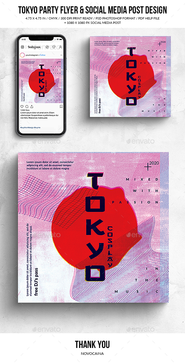 Flyers PSD – Tokyo Celebration Square Flyer & Social Media Submit – Download