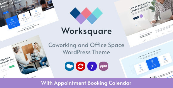 Worksquare – Coworking and Achieve of business House WordPress Theme – WP Theme Download
