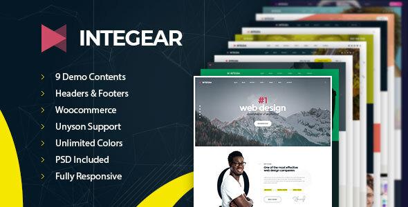 Integear – IT Firm & Agency WordPress Theme  – WP Theme Download