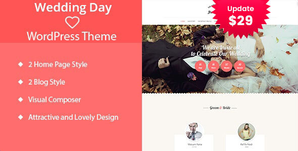 Wedding Day – WordPress Theme – WP Theme Download