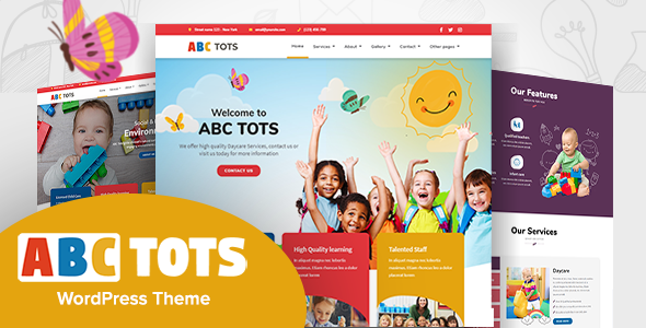 Abc Toddlers – Kindergarten Theme – WP Theme Download