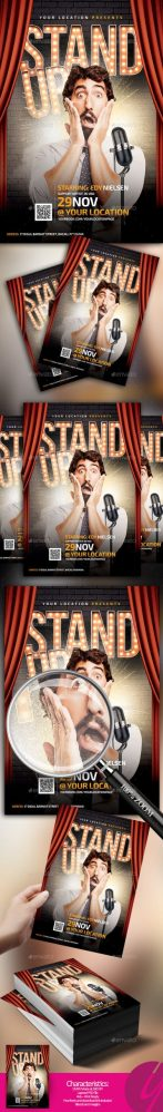 Flyers PSD – Stand Up Comedy Flyer – Download