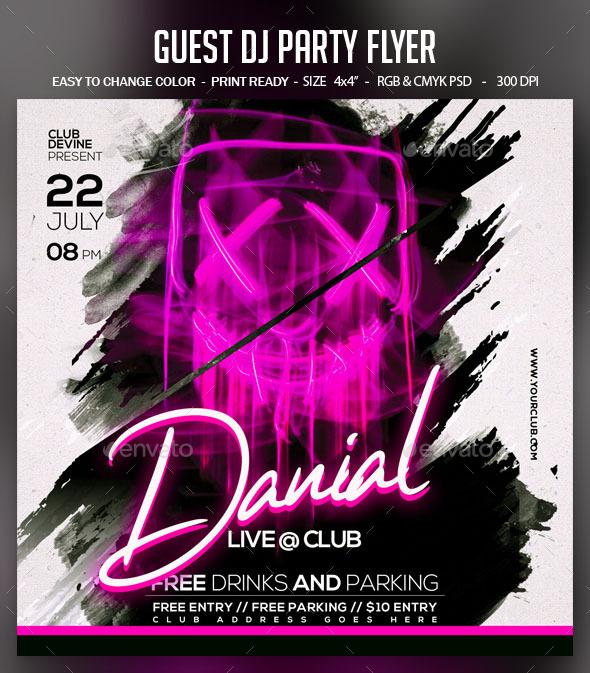 Flyers PSD – Visitor Dj Event Flyer – Download