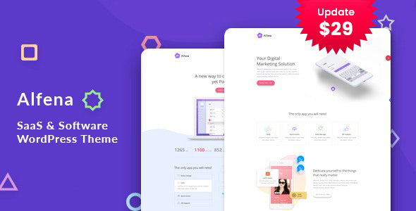 Alfena – SaaS Startup WordPress Theme – WP Theme Download