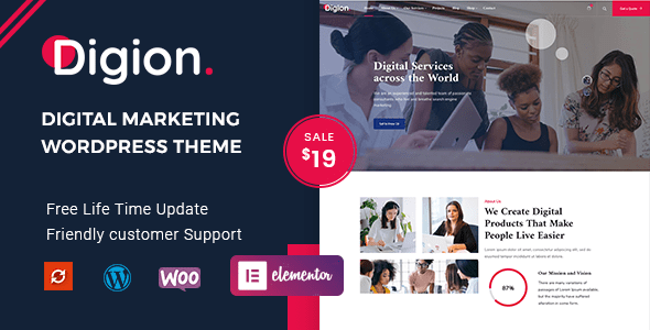 Digion – On-line Digital Marketing and marketing WordPress Theme – WP Theme Download