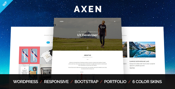 Axen – Non-public Portfolio WordPress Theme – WP Theme Download