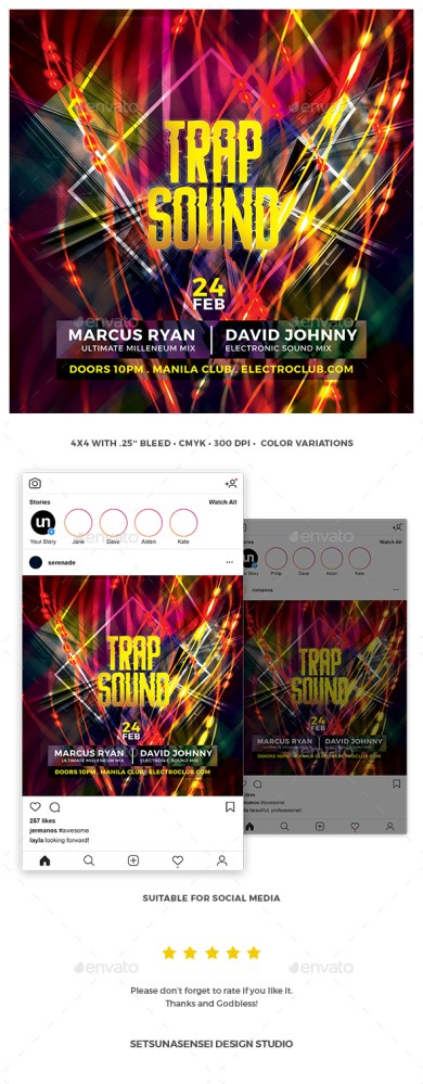 Flyers PSD – Trap Sound Flyer – Download
