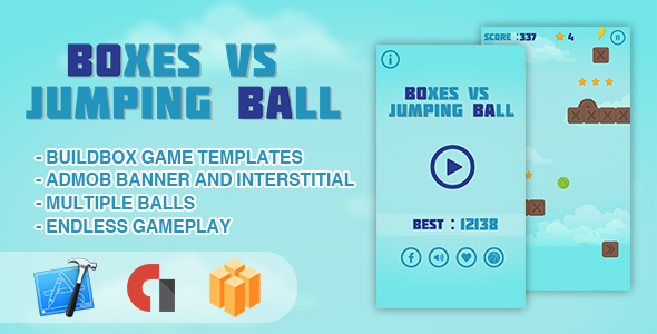 Bins vs Jumping Ball – IOS XCODE Source + Buildbox Template – PHP Script Download