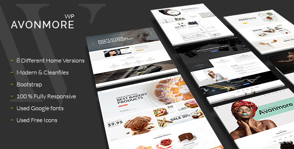 Creative Multipurpose WordPress Theme –  Avonmore – WP Theme Download