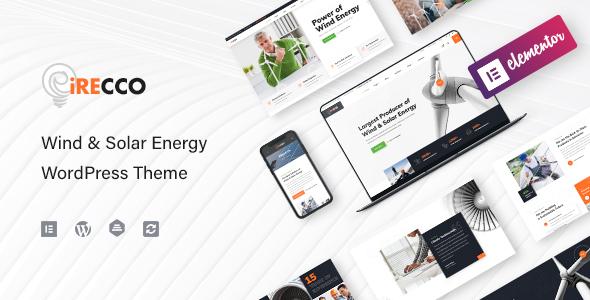 iRecco – Wind & Portray voltaic Vitality WordPress Theme – WP Theme Download