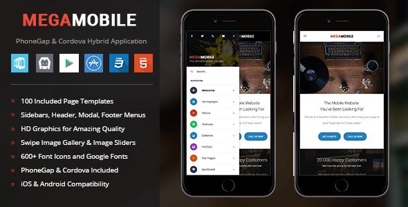 MegaMobile | PhoneGap & Cordova Cell App – PHP Script Download