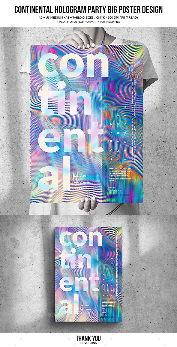Flyers PSD – Continental Hologram Accumulate together Broad Poster Keep – Download