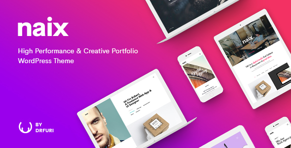Naix – Creative & High Performance Portfolio WordPress Theme  – WP Theme Download