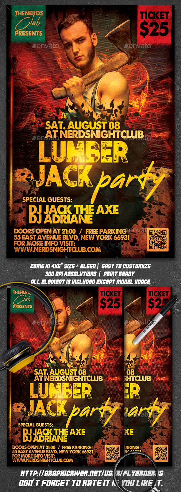 Flyers PSD – LumberJack Occasion Flyer  – Download