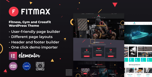 Fitmax – Gym and Fitness WordPress Theme  – WP Theme Download