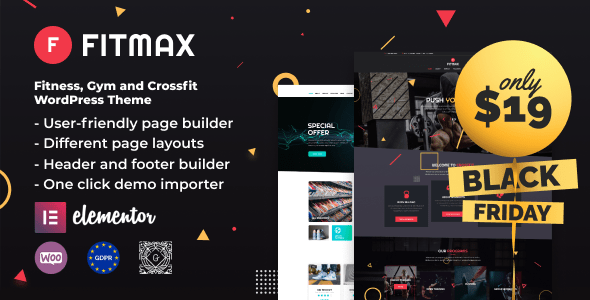 Fitmax – Gym and Health WordPress Theme  – WP Theme Download