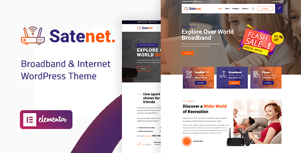 Satenet – Broadband & Internet WordPress Theme  – WP Theme Download