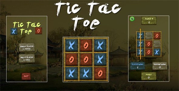 Tic Tac Toe Ninja Unity3D Project + Android iOS Enhance + ADMOB + Gripping to Release  – PHP Script Download