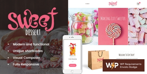 Candy Dessert | Candy Shop & Cafe WordPress Theme  – WP Theme Download