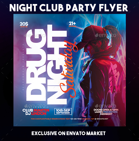 Flyers PSD – Evening Club Celebration Flyer  – Download