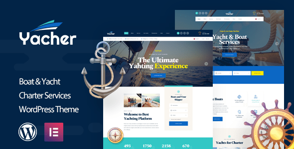 Yacher – Yacht Constitution Products and providers WordPress Theme  – WP Theme Download