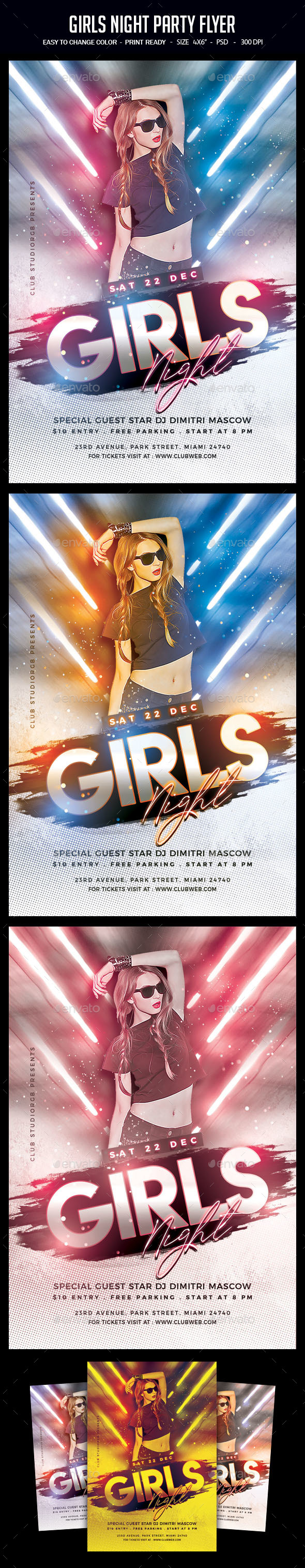 Flyers PSD – Ladies Night Party Flyer – Download