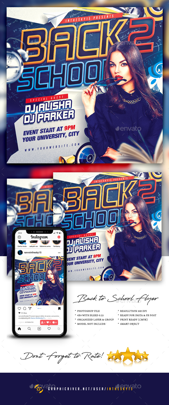 Flyers PSD – Reduction to College Flyer  – Download