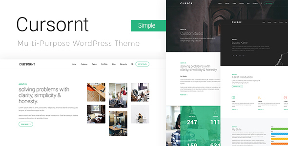 Cursornt – Responsive Vibrant Industry WordPress Theme  – WP Theme Download