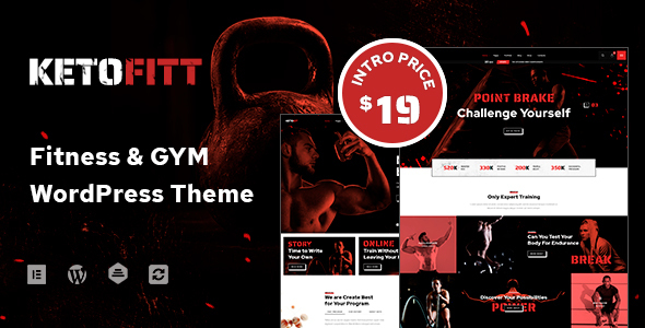 KetoFitt – Fitness & GYM WordPress Theme  – WP Theme Download
