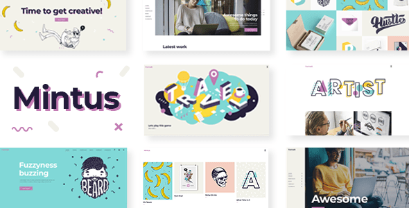 Mintus – Illustration Portfolio Theme  – WP Theme Download