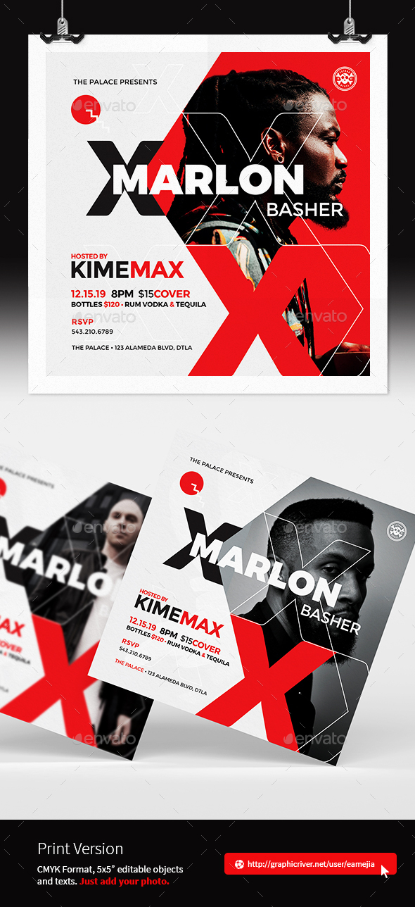 Flyers PSD – Dj Promotional Flyer Template  – Download