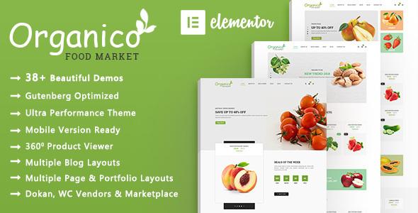 Organico | Natural Food WooCommerce WordPress Theme  – WP Theme Download