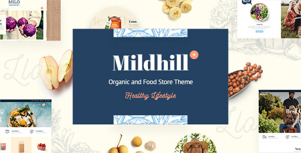 Mildhill – Organic and Food Retailer Theme  – WP Theme Download