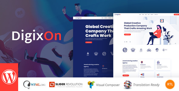 Digixon – Digital Marketing System WP Theme  – WP Theme Download