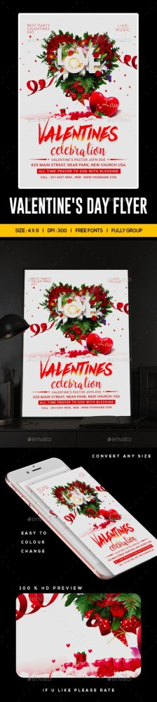 Flyers PSD – Valentine  – Download