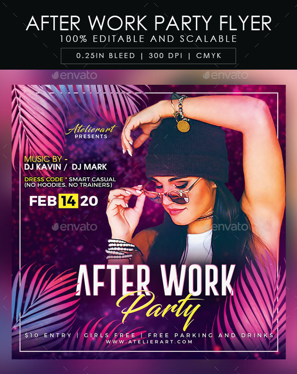 Flyers PSD – After Work Celebration Flyer  – Download