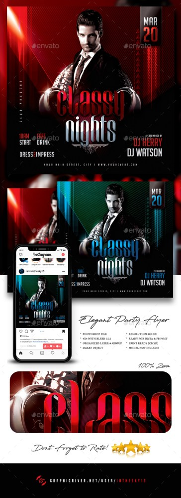 Flyers PSD – Clear Birthday celebration Flyer  – Download