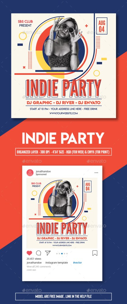 Flyers PSD – Indie Occasion Flyer Template  – Download