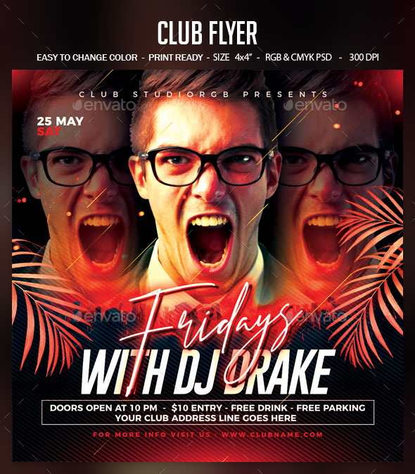 Flyers PSD – Club Flyer  – Download