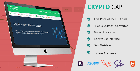 Crypto Cap –  Cryptocurrencies Realtime Costs, Charts, Market Caps and more  – PHP Script Download