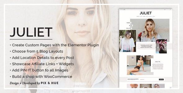 juliet a blog store theme for wordpress download